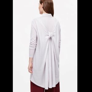 COS Bow Back Sweater Dress